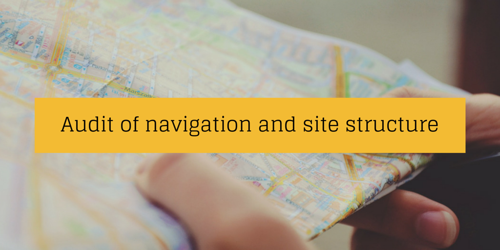 Audit of navigation and site structure
