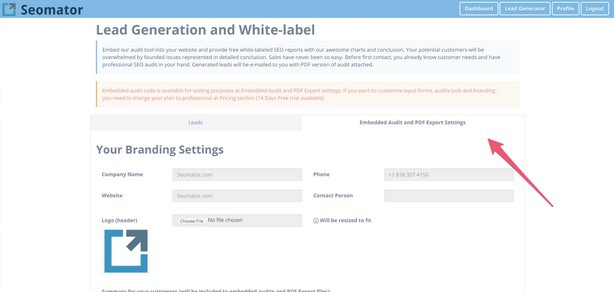 Kickstart your sales with our white label audit tool embedded on